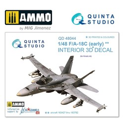 F/A-18С (early) 3D-Printed & coloured Interior on decal paper - Scale 1/48 - Quinta Studio - QD48044