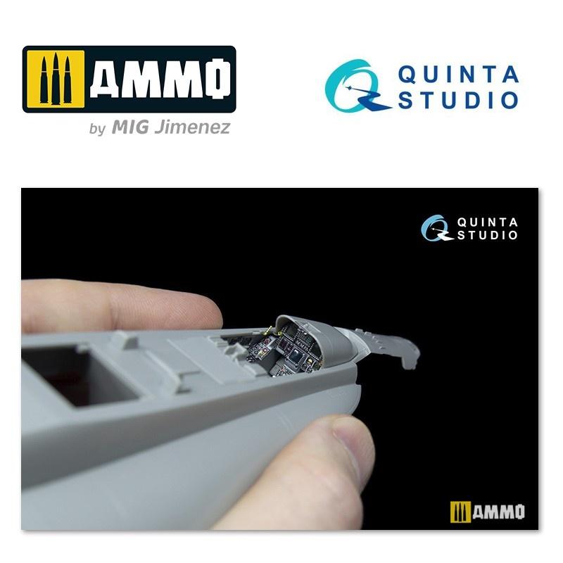 Quinta Studio F/A-18С (early) 3D-Printed & coloured Interior on decal paper - Scale 1/48 - Quinta Studio - QD48044