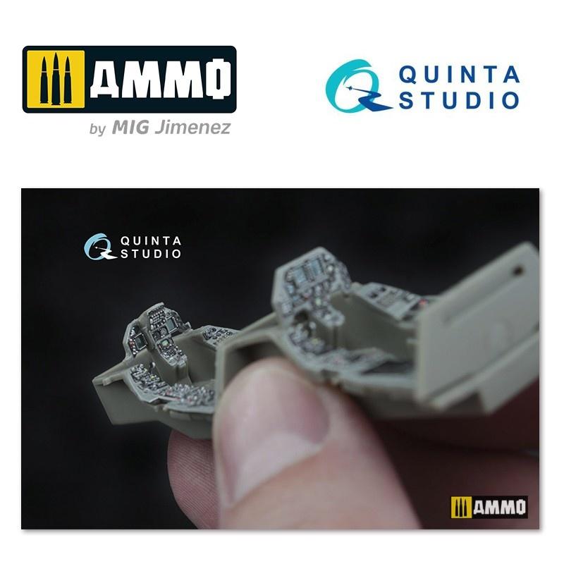 Quinta Studio F-16D (block 30/40/50)  3D-Printed & coloured Interior on decal paper - Scale 1/48 - Quinta Studio - QD48045