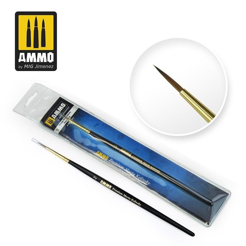 Ammo by Mig Jimenez 2 Premium Marta Kolinsky Round Brush - Ammo by Mig Jimenez - A.MIG-8603