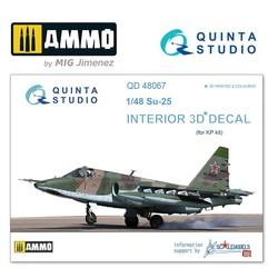 Su-25 3D-Printed & coloured Interior on decal paper - Scale 1/48 - Quinta Studio - QD48067