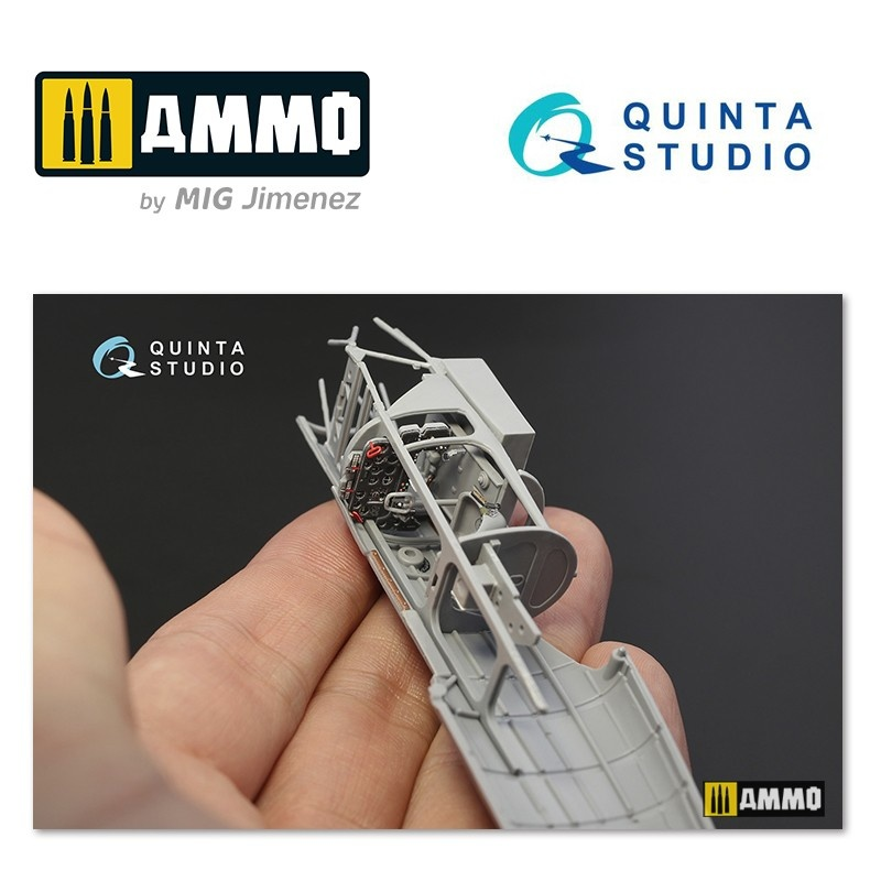 Quinta Studio La-5FN 3D-Printed & coloured Interior on decal paper - Scale 1/48 - Quinta Studio - QD48066