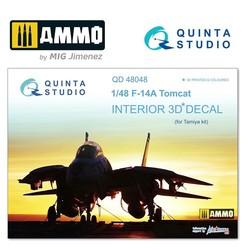 F-14A 3D-Printed & coloured Interior on decal paper - Scale 1/48 - Quinta Studio - QD48048