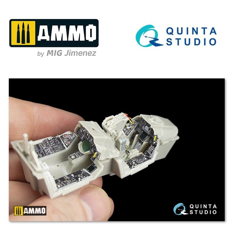 Quinta Studio F-14A 3D-Printed & coloured Interior on decal paper - Scale 1/48 - Quinta Studio - QD48048