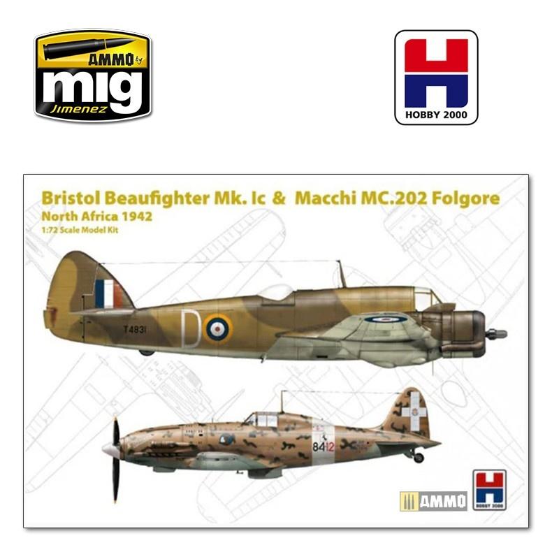 Hobby 2000 Beaufighter Mk. IC & Macchi 202  - Scale 1/72 - Hobby 2000 - H2K72005