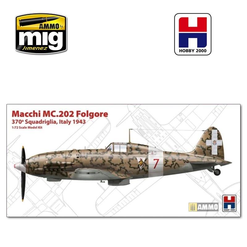 Hobby 2000 Macchi MC.202 Italy 1943 - Scale 1/72 - Hobby 2000 - H2K72008