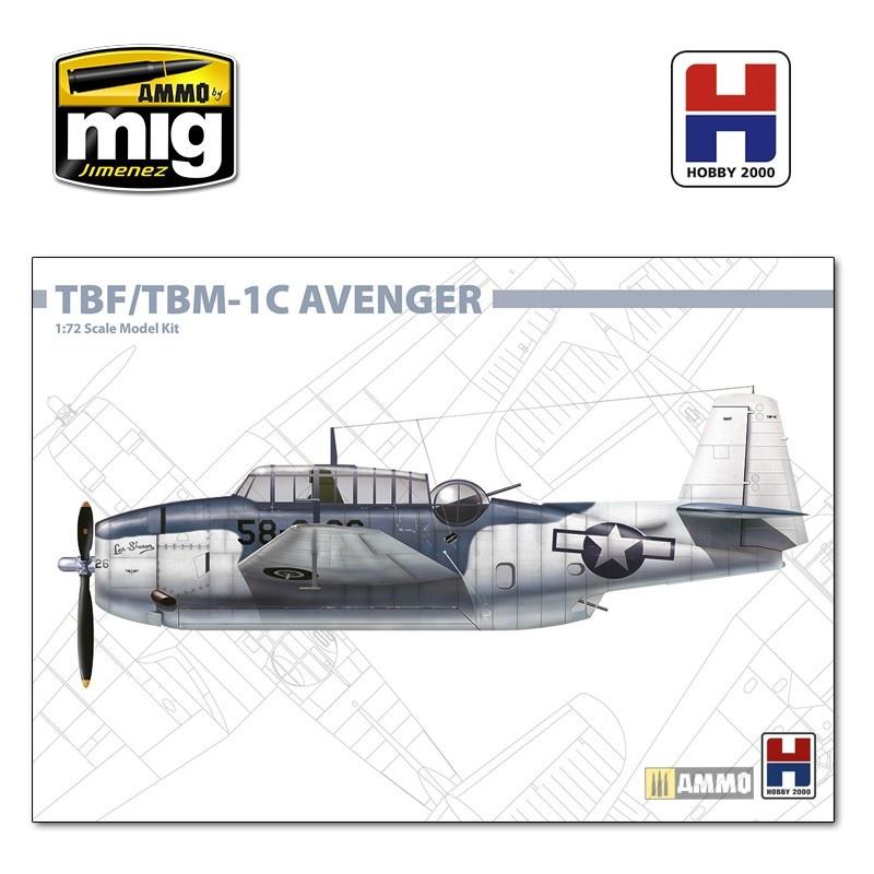 Hobby 2000 Grumman TBF/TBM-1C Avenger - Scale 1/72 - Hobby 2000 - H2K72009