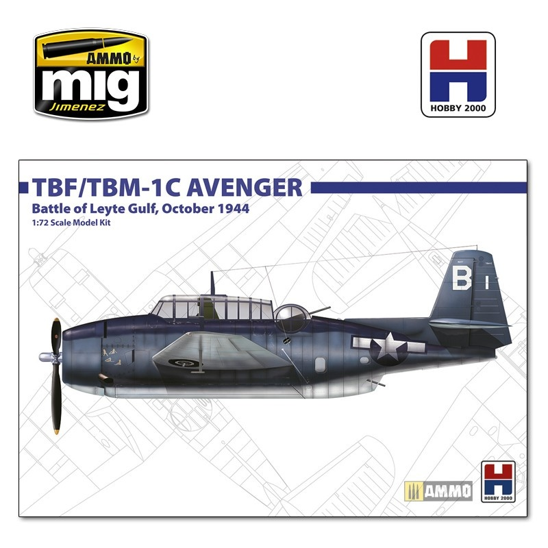 Hobby 2000 Grumman TBF/TBM-1C Avenger October 1945 - Scale 1/72 - Hobby 2000 - H2K72010