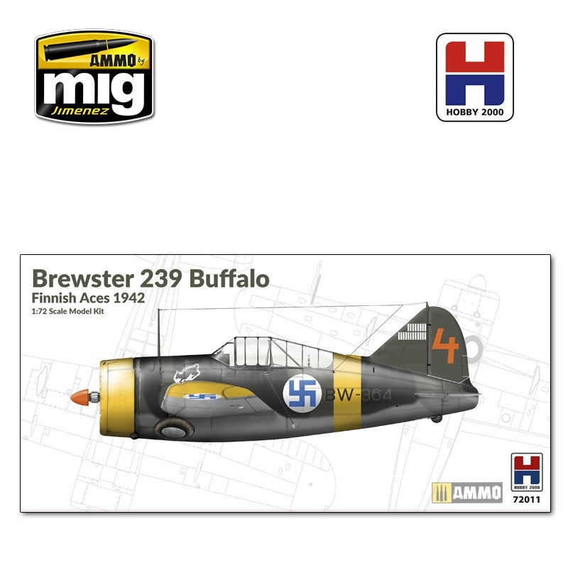 Hobby 2000 Brewster Model 239 Buffalo - Finnish Aces 1942 - Scale 1/72 - Hobby 2000 - H2K72011
