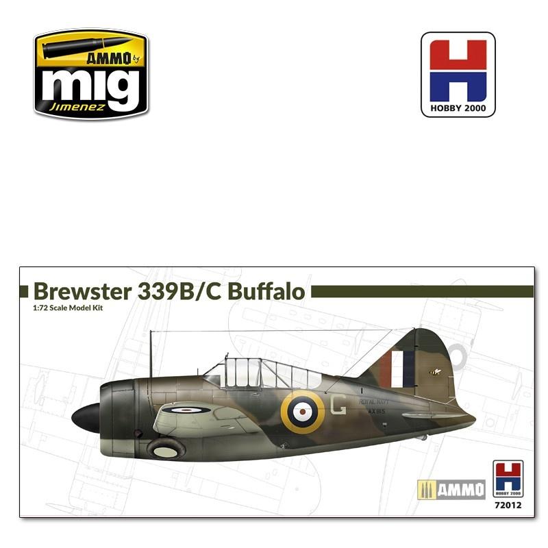 Hobby 2000 Brewster Model 339B/C Buffalo - Scale 1/72 - Hobby 2000 - H2K72012