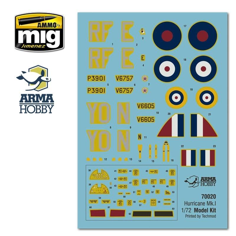 Arma Hobby Hurricane Mk I Model Kit - Scale 1/72 - Arma Hobby - AH70020