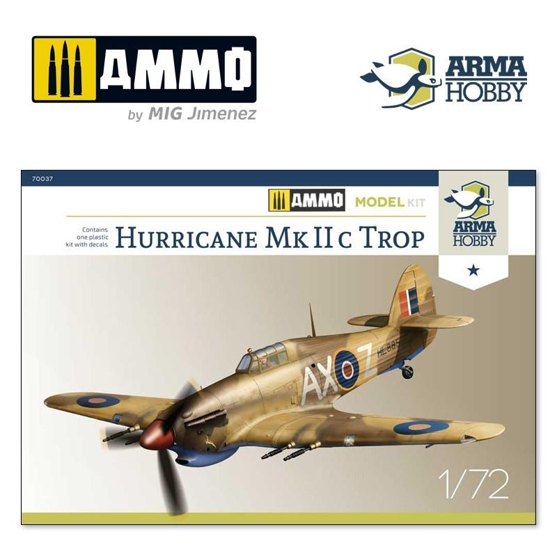 Arma Hobby Hurricane Mk IIc Trop Model Kit - Scale 1/72 - Arma Hobby - AH70037