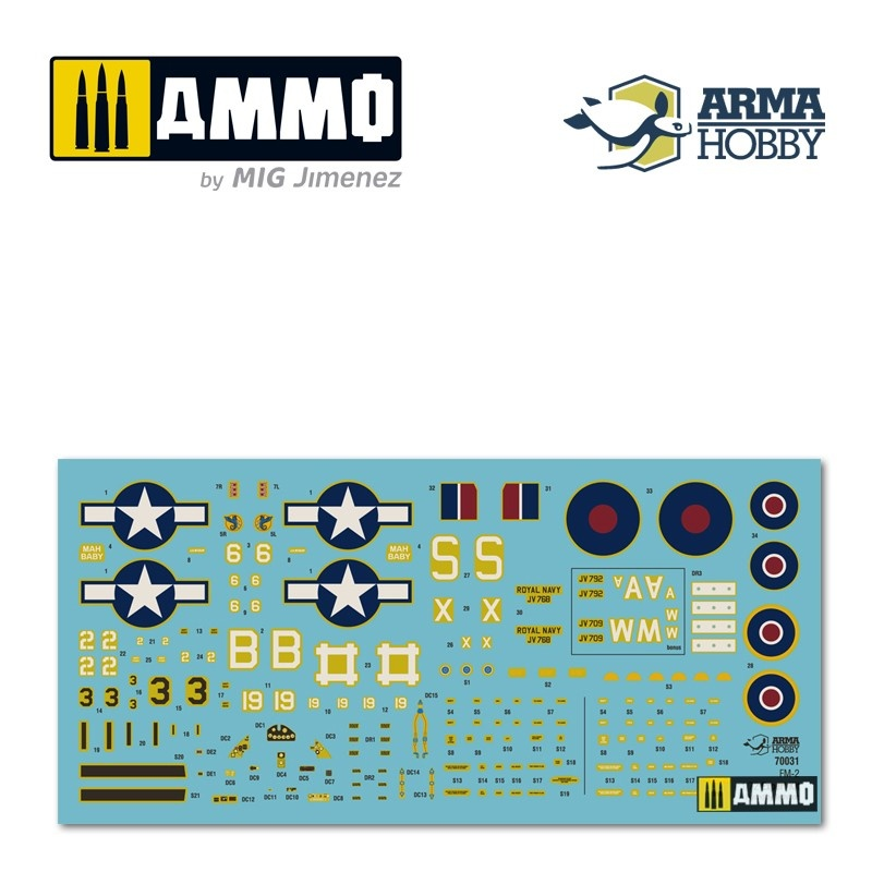 Arma Hobby FM-2 Wildcat™ Expert Set - Scale 1/72 - Arma Hobby - AH70031