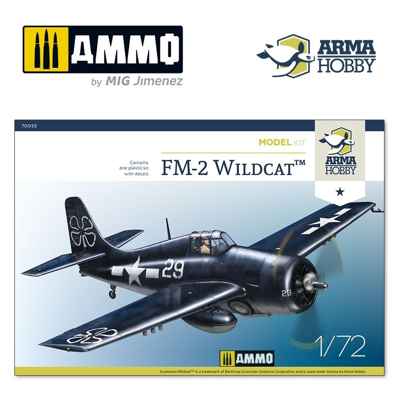 Arma Hobby FM-2 Wildcat™ Model Kit - Scale 1/72 - Arma Hobby - AH70033