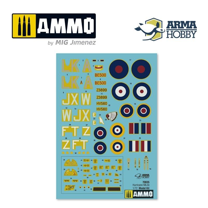 Arma Hobby Hurricane Mk IIc Expert Set - Scale 1/72 - Arma Hobby - AH70035