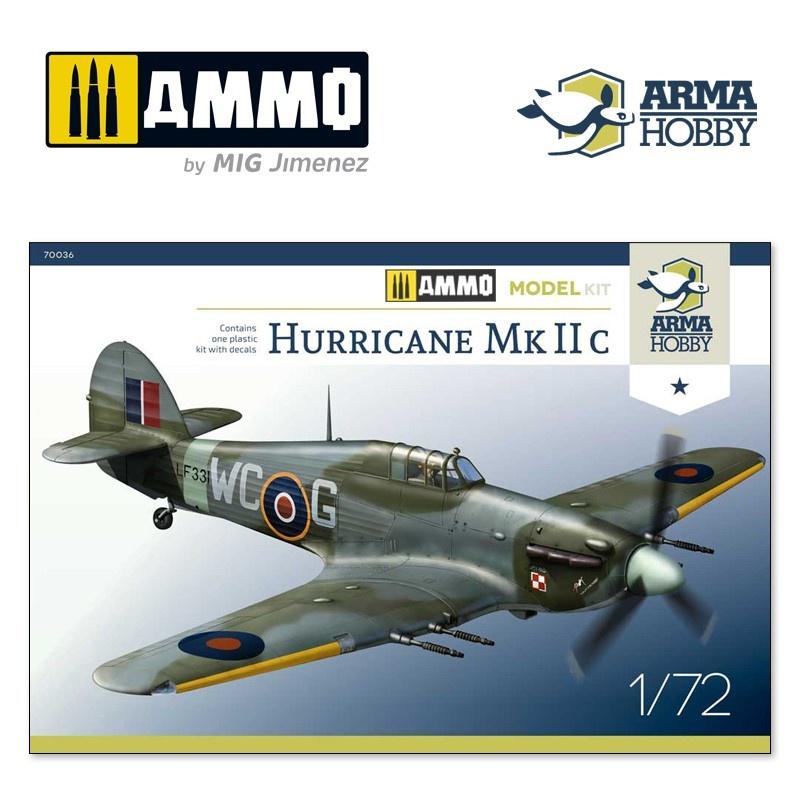 Arma Hobby Hurricane Mk IIc Model Kit - Scale 1/72 - Arma Hobby - AH70036