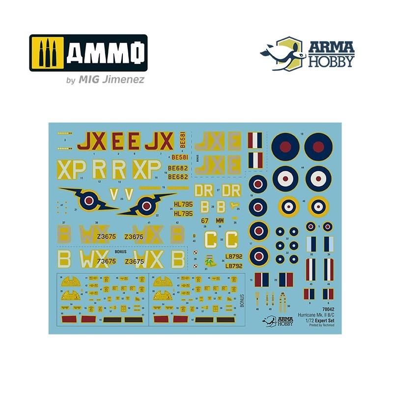 Arma Hobby Hurricane Mk IIb/c Expert Set - Scale 1/72 - Arma Hobby - AH70042
