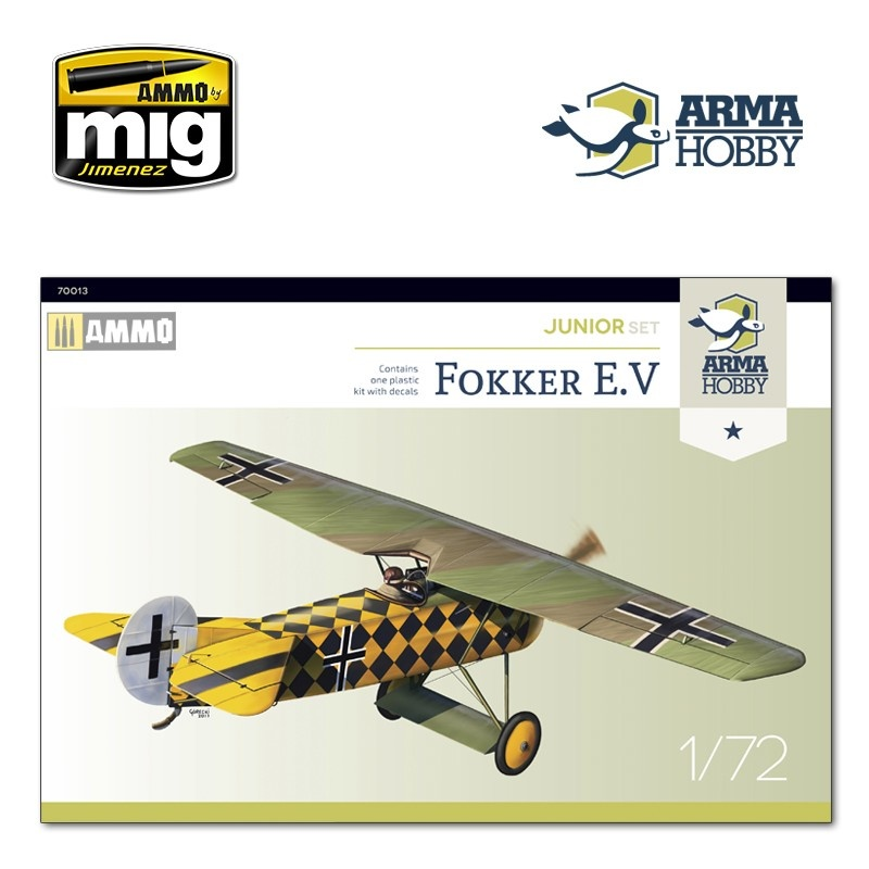 Arma Hobby Fokker E.V Junior set - Scale 1/72 - Arma Hobby - AH70013