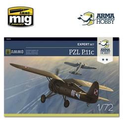 PZL P.11c Expert Set - Scale 1/72 - Arma Hobby - AH70015