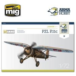 PZL P.11c Junior Set - Scale 1/72 - Arma Hobby - AH70016