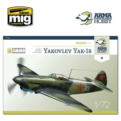 Yakovlev Yak-1b Model Kit - Scale 1/72 - Arma Hobby - AH70028