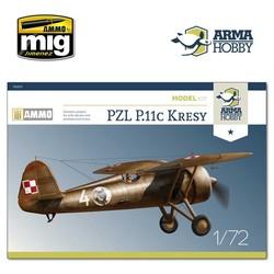 "PZL P.11c ""Kresy"" Model Kit - Scale 1/72 - Arma Hobby - AH70017"