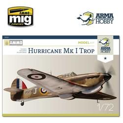 Hurricane Mk I Trop Model Kit - Scale 1/72 - Arma Hobby - AH70021