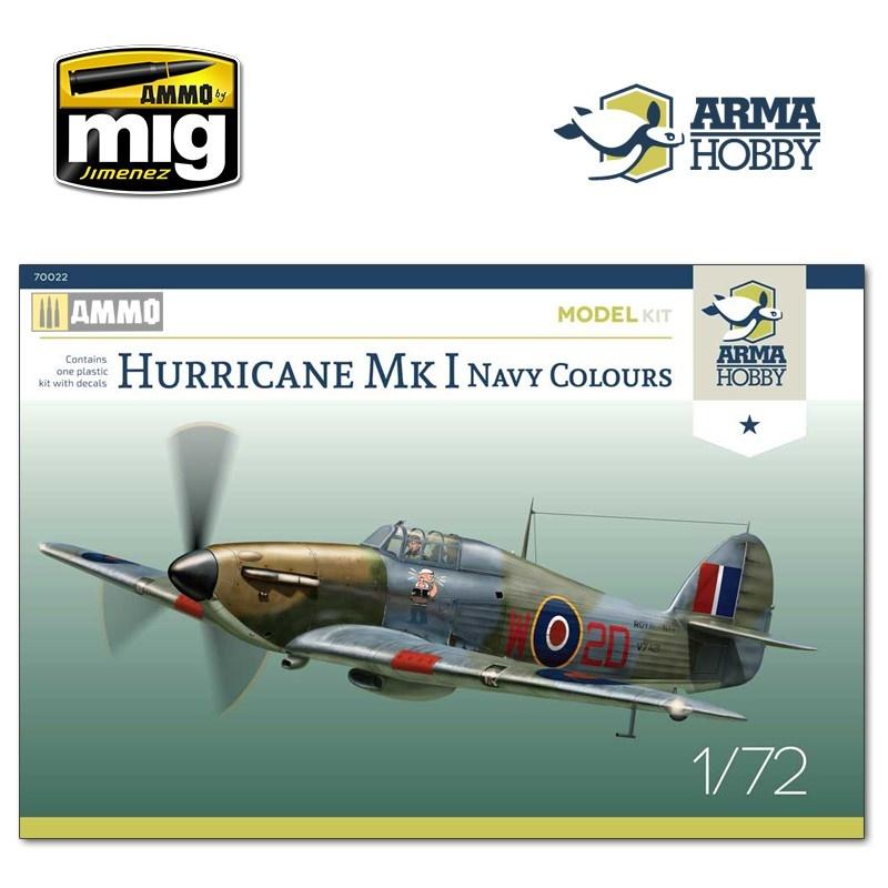Arma Hobby Hurricane Mk I Navy Colours Model Kit - Scale 1/72 - Arma Hobby - AH70022