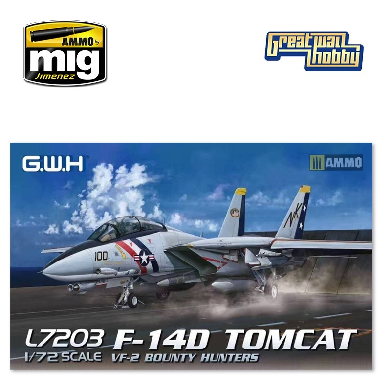 Great Wall Hobby F-14D US Navy VF-2 Bounty Hunters - Scale 1/72 - Great Wall Hobby - GWH07203