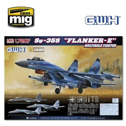"""Su-35S """"Flanker E"""" Multirole Fighter - Scale 1/72 - Great Wall Hobby - GWH07207"""