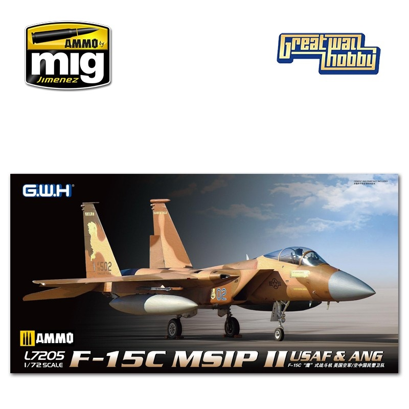 Great Wall Hobby F-15C MSIP II USAF & ANG - Scale 1/72 - Great Wall Hobby - GWH07205