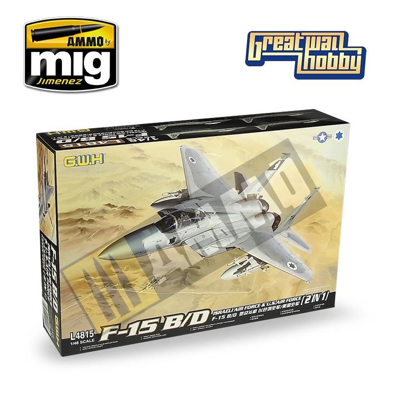 Great Wall Hobby F-15B/D Israeli Air Force & U.S.Air Force 2 in 1 - Scale 1/48 - Great Wall Hobby - GWH04815