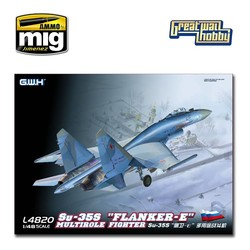 """Su-35S """"Flanker E"""" Multirole Fighter - Scale 1/48 - Great Wall Hobby - GWH04820"""