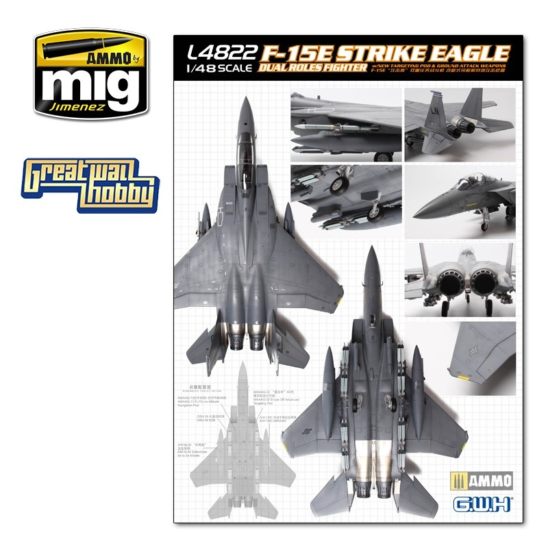 Great Wall Hobby F-15E Strike Eagle Dual-Roles Fighter - Scale 1/48 - Great Wall Hobby - GWH04822