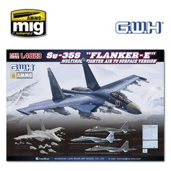 """Su-35S """"Flanker E"""" Multirole Fighter Air to Surface Version - Scale 1/48 - Great Wall Hobby - GWH04823"""