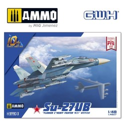 """Su-27UB """"Flanker C"""" Heavy Fighter - Scale 1/48 - Great Wall Hobby - GWH04827"""