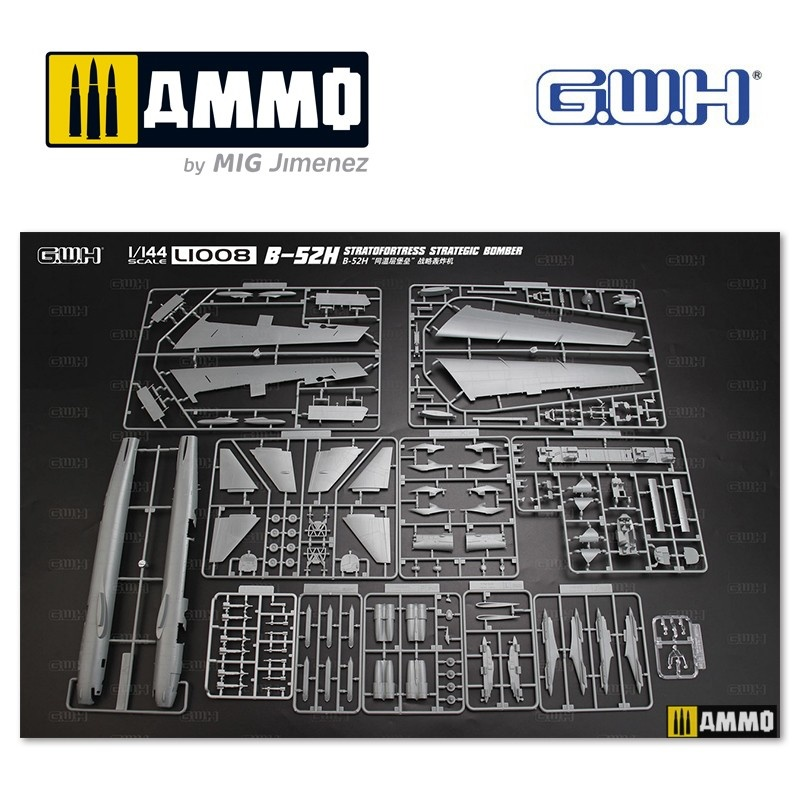 Great Wall Hobby B-52H Stratofortress Strategic Bomber - Scale 1/144 - Great Wall Hobby - GWH01008
