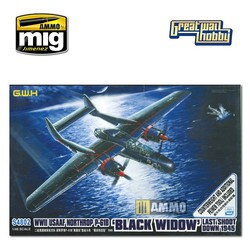 USAAF Northrop P-61B Last Shoot Down w/Metal Counterweight and new Additional PE - Scale 1/48 - Great Wall Hobby - GWHS4802