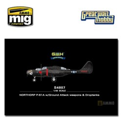 NORTHORP P-61A w/Ground Attack weapons & Droptanks - Scale 1/48 - Great Wall Hobby - GWHS4807