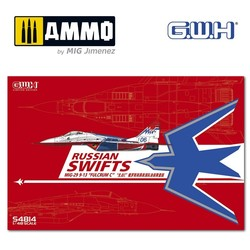 """MIG-29  9-13 Fulcrum C """"Russian Swifts"""" /w special Mask & Decal - Scale 1/48 - Great Wall Hobby - GWHS4814"""