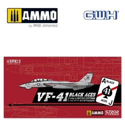 """US Navy F-14A VF-41 """"Black Aces"""" /w special PE & Decal - Scale 1/72 - Great Wall Hobby - GWHS72002"""