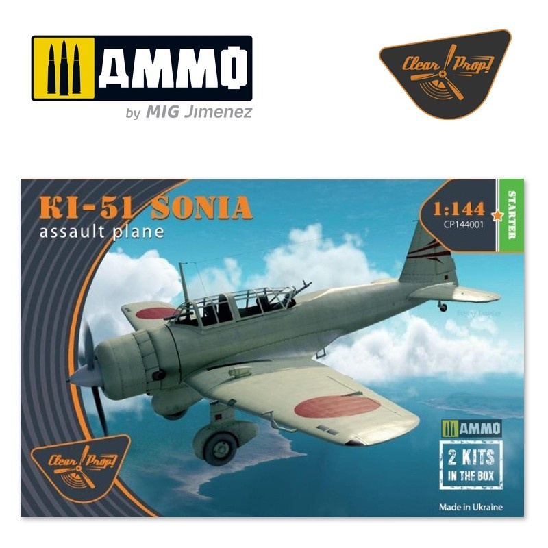 Clear Prop Ki-51 Sonia (2 in box) - Scale 1/144 - Clear Prop - CP144001