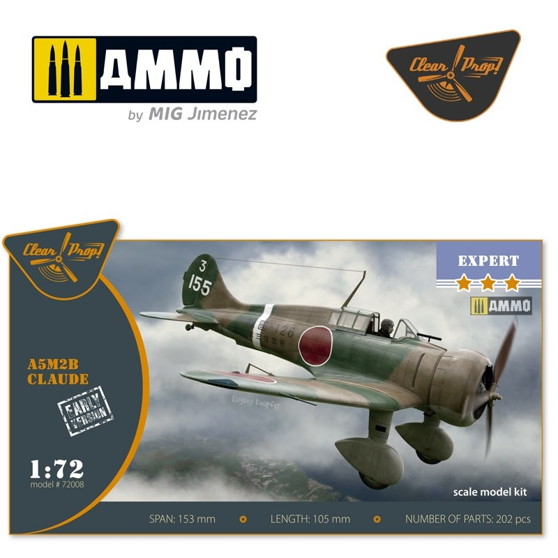 Clear Prop A5M2b Claude early version - Scale 1/72 - Clear Prop - CP72008