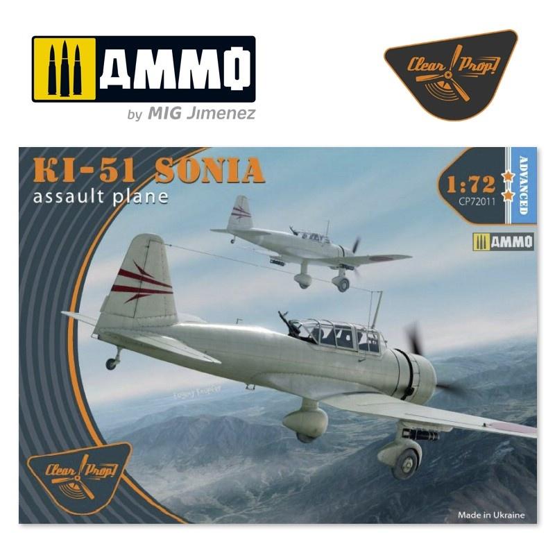 Clear Prop Ki-51 Sonia - Scale 1/72 - Clear Prop - CP72011