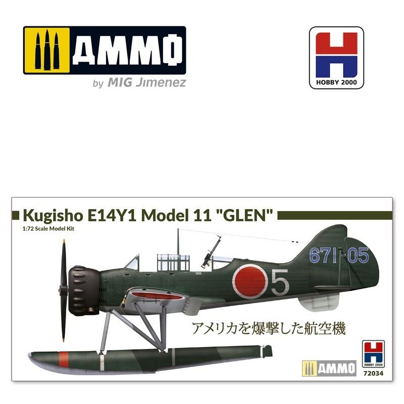 "Hobby 2000 Kugisho E14Y1 Model 11 ""Glen"" w/catapult - Scale 1/72 - Hobby 2000 - H2K72034"