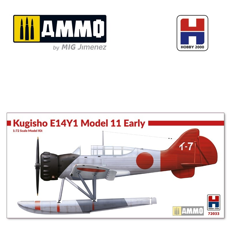 Hobby 2000 Kugisho E14Y1 Model 11 Early w/catapult - Scale 1/72 - Hobby 2000 - H2K72033