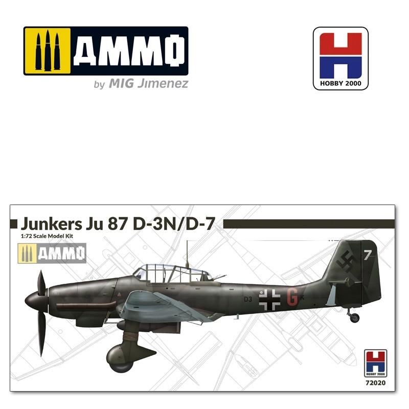 Hobby 2000 Junkers Ju-87 D-3 N / D-7 - Scale 1/72 - Hobby 2000 - H2K72020