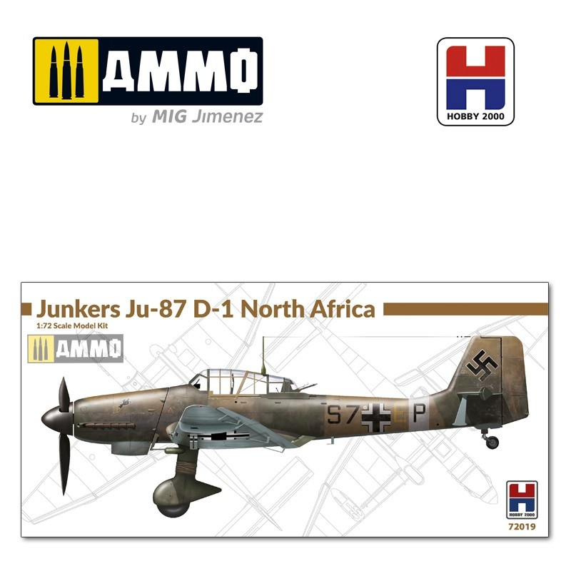 Hobby 2000 Junkers Ju-87 D-1 North Africa - Scale 1/72 - Hobby 2000 - H2K72019