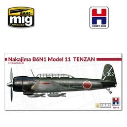 Nakajima B6N1 Model 11 Tenzam - Scale 1/72 - Hobby 2000 - H2K72015