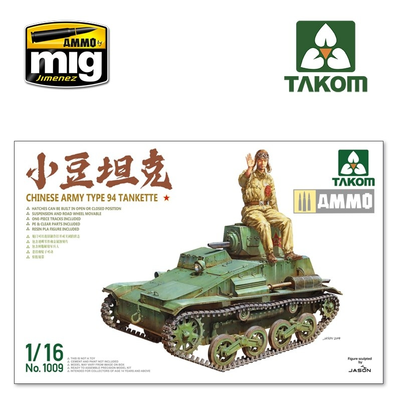 Takom Chinese Army Type 94 Tankette - Scale 1/16 - Takom -TAKO1009